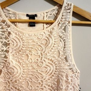 NWT Forever 21 Crochet Detailed Crop Top